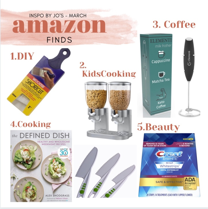 Click on Image to take you to my March Amazon Finds